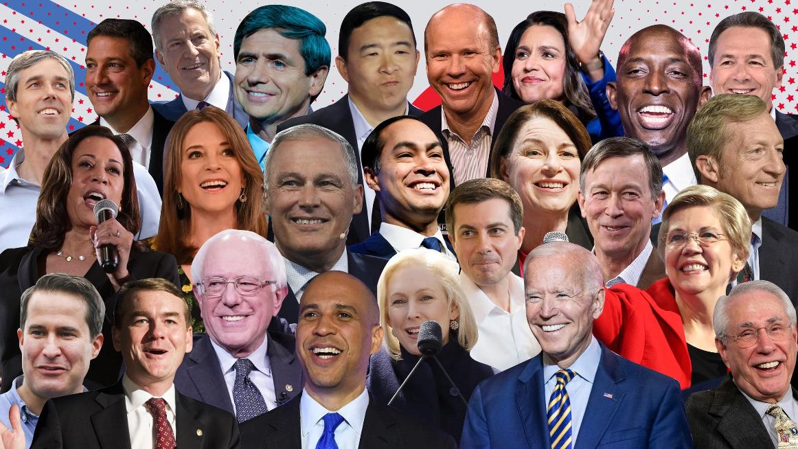 Elenco dei candidati dem ancora in corsa e di quelli usciti di scena