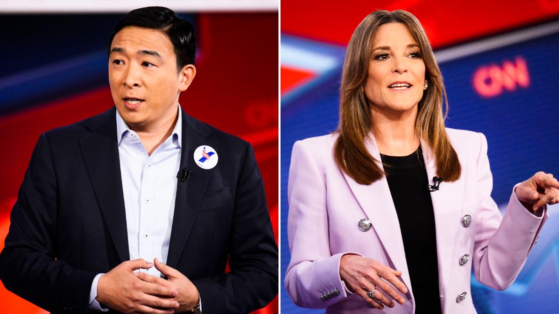 Marianne Williamson appoggia Andrew Yang